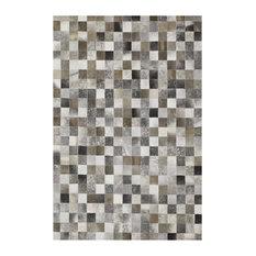 Sao Paulo Cowhide Rug, Grey, 140x200 cm