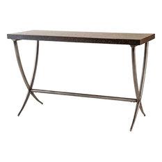 Valencia Console Table, Black, Antique Silver