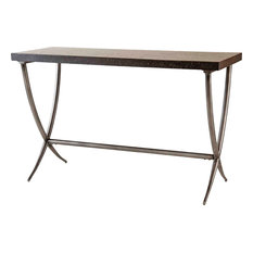 ELK Group International - Valencia Console Table, Black, Antique Silver - Console Tables