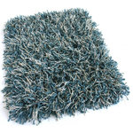 Koeckritz - 4'x8' Peacock Bling Shag Custom Rug, 68.2 oz Carpet - BLING Peacock Blue | 68.2 Oz. Custom Shag Area Rugs and Runners