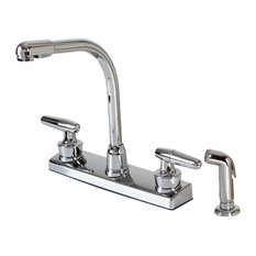 Hardware House - Plastic Hardware House Two Handle Kitchen Faucet, Chrome - Kitchen Faucets