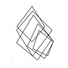"""Wall Decor 'Gilt Mod I-W' in ArtPlexi, 20""""x16"""""""