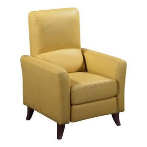 Siena Recliner Club Chair, Mustard By Rissanti