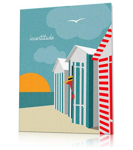 Tableau plage cabines Deauville - Décoration Murale Enfant