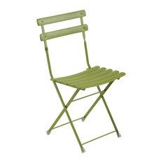 Emu Arc En Ciel Steel Folding Side Chair, Set of 2, Antique Green