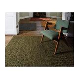 Soumak Green Rectangle Plain/Nearly Plain Rug 66x200cm