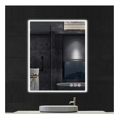 Fogless, Dimmable, Color Temperature Adjustable LED Mirror, 30x36