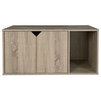 Finn Litter Box Enclosure, Dark Taupe