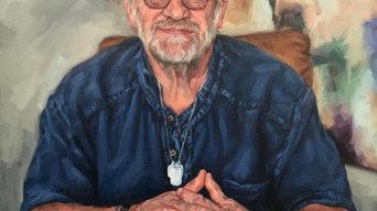Antony Worrall Thompson - oil on canvas 87mm x 67mm