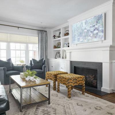 Living room - transitional living room idea in Richmond