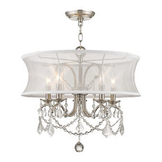 Livex, Newcastle 5-Light Chandelier, Brushed Nickel