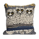 """Frontporch Owls Night Square Pillow, 18"""""""