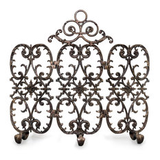 3-Panel Siena Fireplace Screen With Arch, Bronze