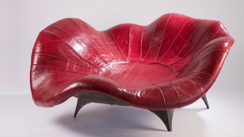 """Red Moon Rising"" Couch"