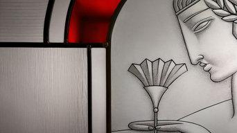 La Fleur - vitrail Art deco