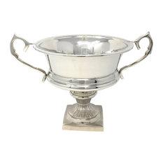 Serene Spaces Living Silver-Plated Trophy Flower Urn, Medium