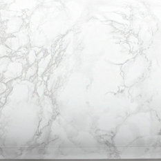 EzFaux Decor LLC® - 20' Countertop Faux Marble Contact Paper Peel & Stick, Marble White - Kitchen Countertops