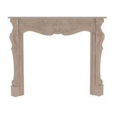 "The Deauville 58"" Fireplace Mantel, Unfinished"