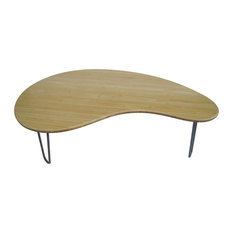 Mid Century Modern Natural Bamboo Coffee Table