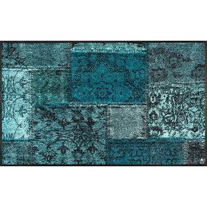 Vintage Patches Door Mat, Turquoise, 120x75 cm