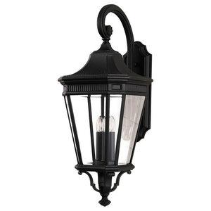 Cotswold Wall Lantern, Black, Large