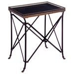 IMAX Worldwide Home - Kantor Rectangular Accent Table, Black and Bronze - *Please Note*