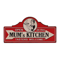 "Decorative Kitchen Wall Decor, ""Mum's Kitchen"", 26.3x53 cm"