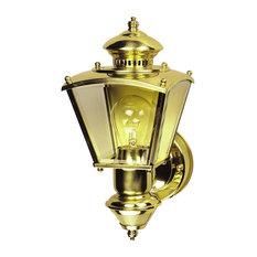 Heath Zenith HZ-4150 Charleston Coach 1 Light 150 Degree Motion - Brass