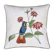 Embroidered Tiki Bird Pillow