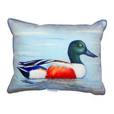 "Betsy Drake Northern Shoveler Extra Large Zippered Pillow, 20""x24"""
