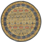 Unique Loom - Unique Loom Carnation Edinburgh, Navy Blue, 6'x6', Round - The classic look of the Edinburgh Collection is sure to lend a dignified atmosphere to your home. With an array of colors and patterns to choose from, there�s a rug to suit almost any taste in this collection. This Edinburgh rug will tie your home�s decor together with class and amazing style.