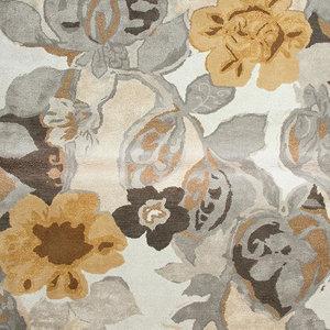 9 x12  Area Rug Rectangle Multicolor White Handmade Hand-Tufted Contemporary  World Bazaar Exotics