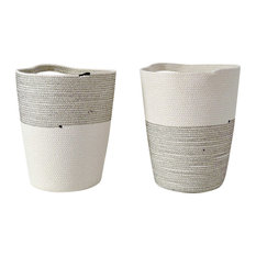 Cotton Rope Pot, Set of 2