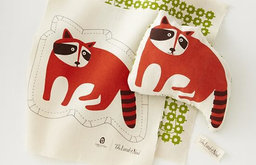 Pillow Stitch Kit, Raccoon