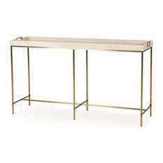 Edmund Console Table Ivory Shagreen