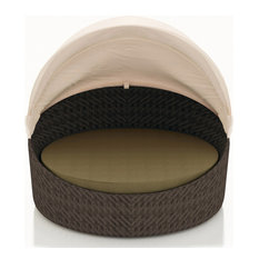 Wink Canopy Daybed in Chestnut - Heather Beige