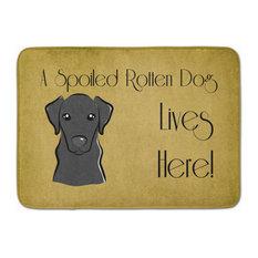 Black Labrador Spoiled Dog Lives Here Machine Washable Memory Foam Mat