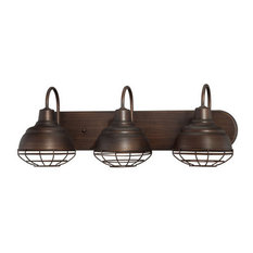 3-Light Bathroom Vanity Light, Rubbed Bronze