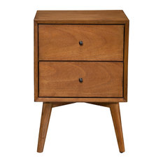 Malmo Wooden Nightstand, Acorn   Nightstands And Bedside Tables