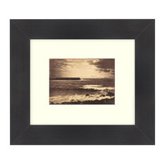 """The Great Wave"" Sepia Tone Framed Photo, 11""X14"""