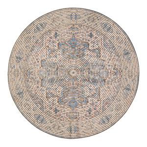 Round Damavand Distressed Area Rug, 8' Round
