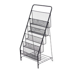 Industrial Iron 5-Tiered File Holder