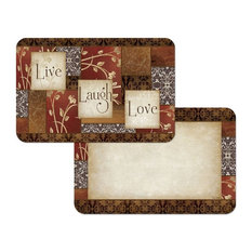 Reversible Plastic Wipe Clean Placemats, Spice of Life, Set of 4