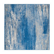 Safavieh Adirondack Collection ADR112 Rug, Silver/Blue, 10' Square