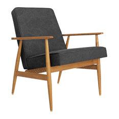 Fox Lounge Chair, Denim Carbon Grey