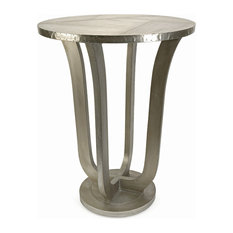 IMAX Worldwide Home   Jensen Aluminum Clad Table   Side Tables And End  Tables
