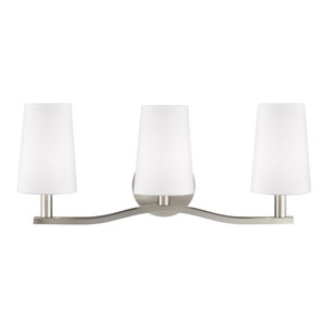 Sea Gull Lighting 3-Light Wall/Bath, Brushed Nickel