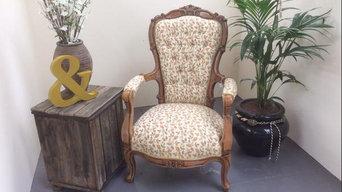 Spanish oak, new upholstery, Houles braid.