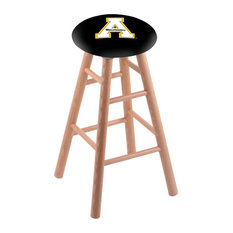 Oak Bar Stool Natural Finish With Appalachian State Seat 30-inch