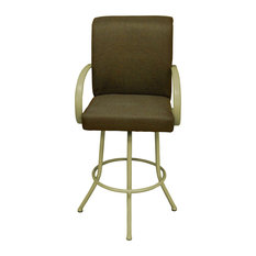 Negev Brown Beige Frame Bar Stool 30-inch